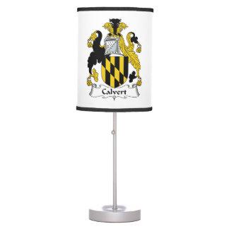 Calvert Family Crest Desk Lamp