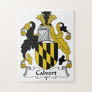 Calvert Family Crest Jigsaw Puzzle