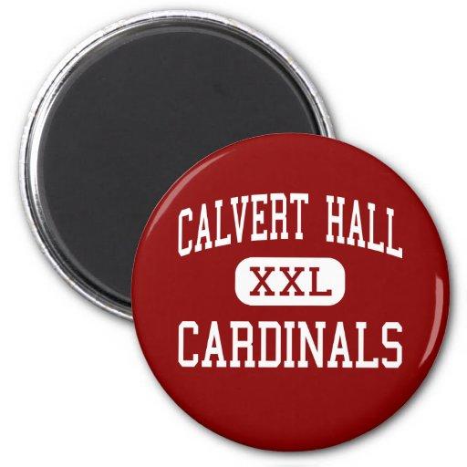 Calvert Pasillo - cardenales - universidad - Balti Imán Redondo 5 Cm