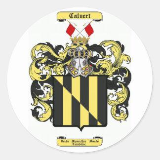 calvert classic round sticker