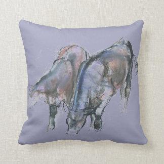 Calves 2006 throw pillow