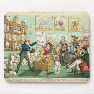 Calves' Heads and Brains; a Phrenological Mouse Pad
