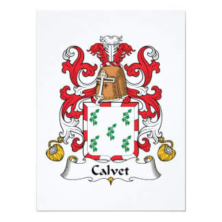 Calvet Family Crest Card