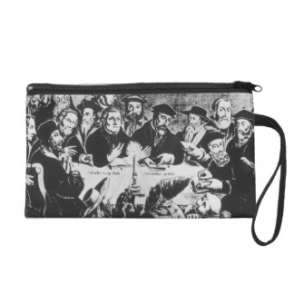 Calvin and Luther (engraving) Wristlet Purse