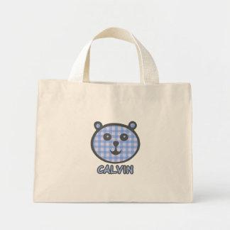 Calvin Blue Bear Canvas tote bag