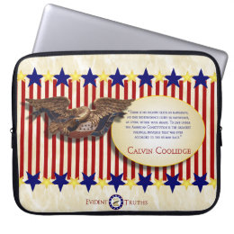 Calvin Coolidge 3 Laptop Sleeve