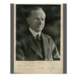 Calvin Coolidge 8x10 firmado Posters