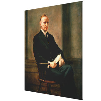 CALVIN COOLIDGE by Charles Syndey Hopinknson Stretched Canvas Prints
