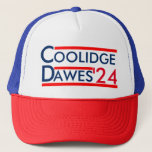 "Calvin Coolidge for President 1924 Trucker Hat<br><div class=""desc"">Throw back to a time when America was great.</div>"
