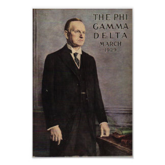 Calvin Coolidge Magazine Cover Poster