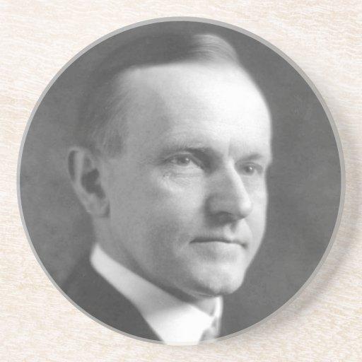 Calvin Coolidge Posavaso Para Bebida