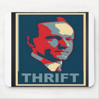 """Calvin Coolidge """"Thrift""""  Mouse Pad"""