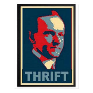 "Calvin Coolidge ""Thrift"" Postcard"