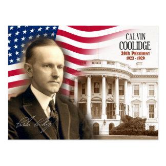 Calvin Coolidge - trigésimo presidente de los E.E. Tarjeta Postal