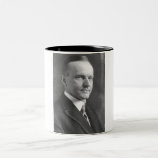Calvin Coolidge Two-Tone Coffee Mug