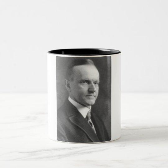 Calvin Coolidge Two-Tone Coffee Mug