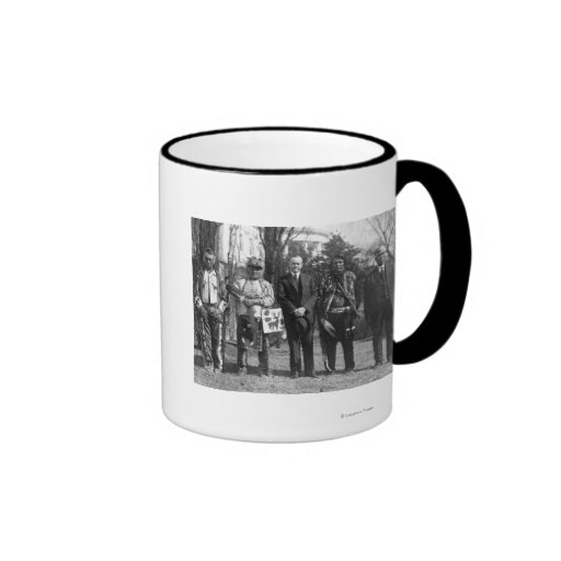 Calvin Coolidge with Osage Indians Photograph Coffee Mugs