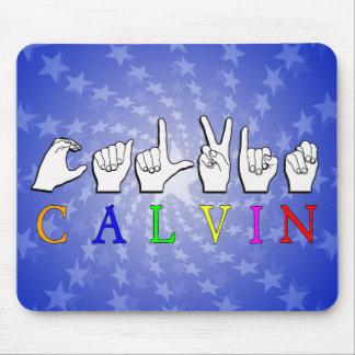 CALVIN FINGERSPELLED ASL NAME SIGN MOUSE PAD