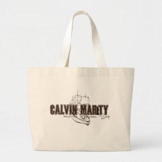 Calvin Marty y el bolso hundido del logotipo de la Bolsa
