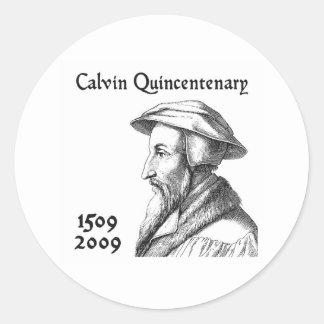 Calvin Quincentenary Classic Round Sticker