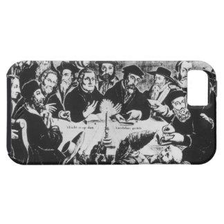 Calvin y Luther (grabado) iPhone 5 Case-Mate Protectores