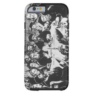Calvin y Luther (grabado) Funda De iPhone 6 Tough