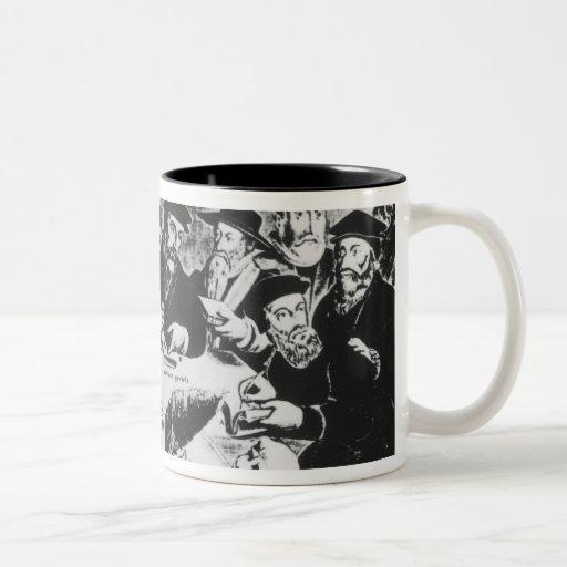 Calvin y Luther (grabado) Taza De Café