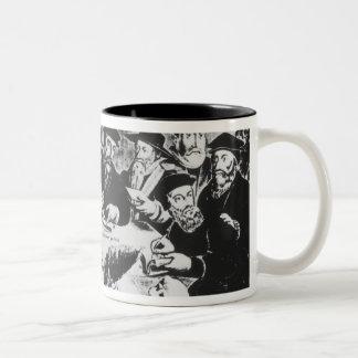 Calvin y Luther grabado Taza De Café