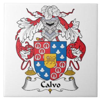 Calvo Family Crest Tile