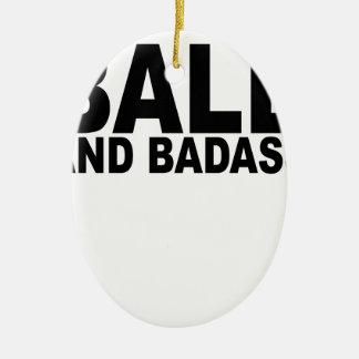 Calvo y Badass T-Shirts.png Adorno Ovalado De Cerámica