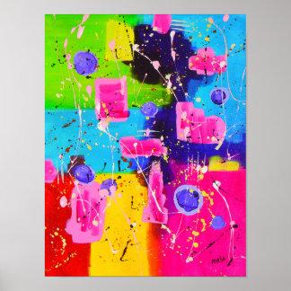 Calypso Abstract Art Poster