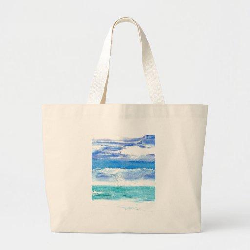 Calypso del océano - pintura de la resaca de la pl bolsa tela grande