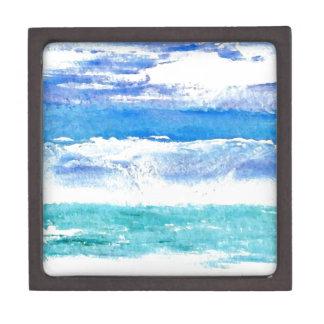 Calypso del océano - pintura de la resaca de la pl cajas de recuerdo de calidad