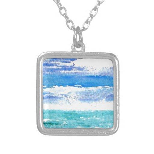 Calypso del océano - pintura de la resaca de la pl joyerias personalizadas