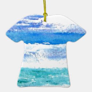 Calypso del océano - pintura de la resaca de la pl adorno para reyes