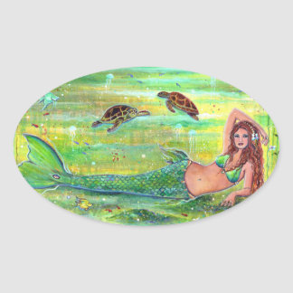 Calypso mermaid with turtles stickers by Renee