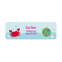 Calypso Sea Creature Ocean Address Labels