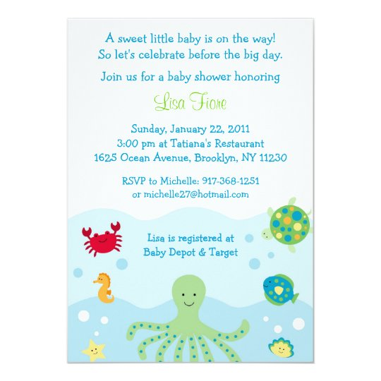 Calypso sea creature ocean baby shower invitations zazzle calypso sea creature ocean baby shower invitations filmwisefo