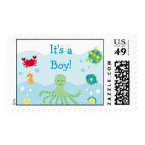 Calypso Sea Creature Ocean Custom Postage Stamps