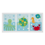 Calypso Sea Creature Ocean Nursery Wall Art