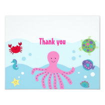 Calypso Sea Creature Ocean Thank You Note Cards