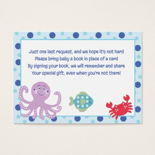 Calypso Under the Sea Enclosure Book Request Cards