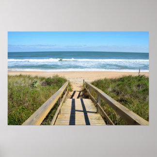 Calzada a la playa póster