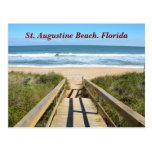 Calzada a la playa tarjeta postal