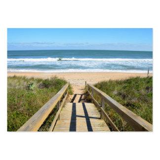 Calzada a la playa tarjetas de visita grandes