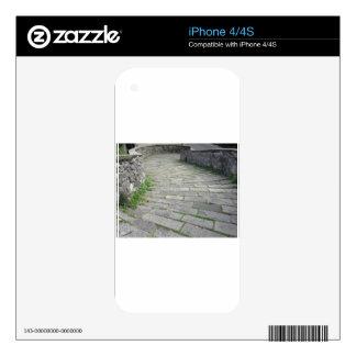 Calzada de piedra de la pendiente del puente calcomanía para iPhone 4