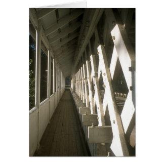 Calzada del puente cubierto de Ashuelot Tarjeta De Felicitación