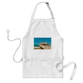 Calzada del rompeolas en la playa de Fortaleza Delantal
