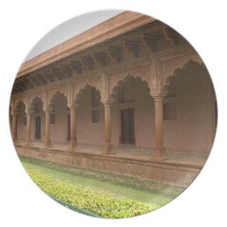 Calzada delante de un mausoleo, el Taj Mahal, Platos