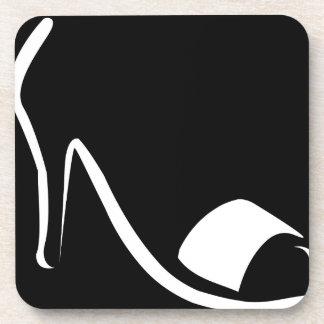 calzado del diseñador posavaso